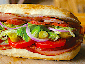 Pick 2 Menu Italian Club Sandwich