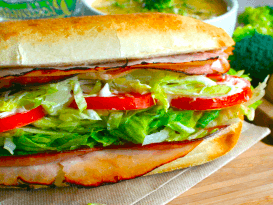 Pick 2 Menu Cafe Club Sandwich