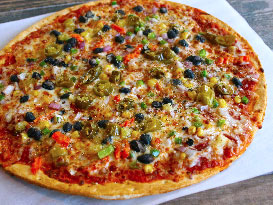 Pickleman's Vegetarian Pizza