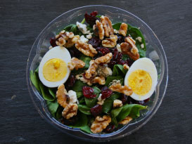 Spinach Walnut Cranberry Salad
